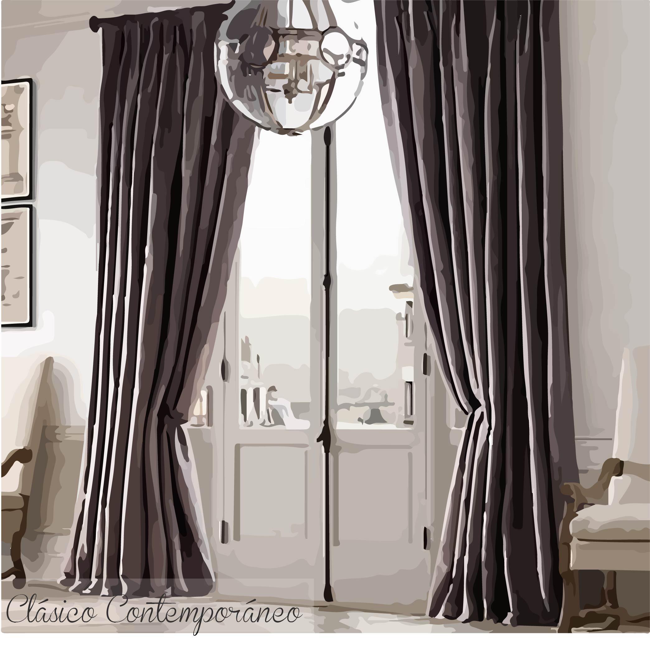 Moda cortinas de moda de lujo de estilo opacas cortinas for Estilos de cortinas