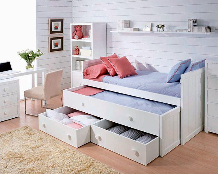 C mo hacer que los espacios chicos se vean m s grandes for Sofa cama de una plaza y media