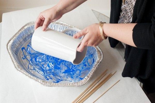 diy jarra de ceramica con barniz de uñas