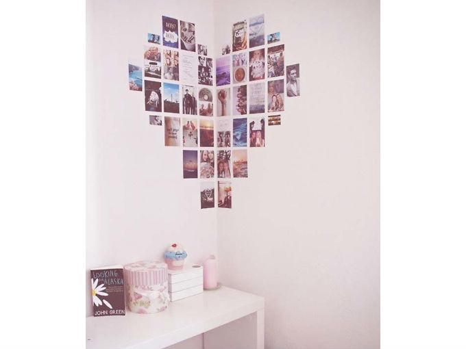 6 ideas incre bles para decorar con fotos me lo dijo lola - Como decorar una pared blanca ...