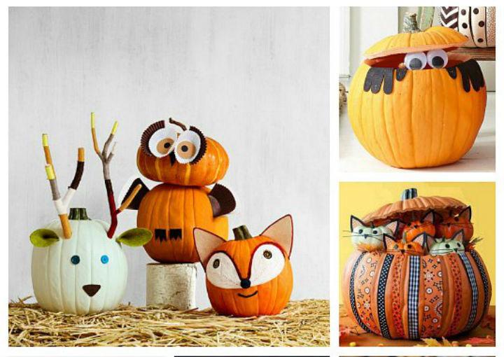 5 formas divertdas de decorar calabazas me lo djo lola - Calabazas de halloween pintadas ...