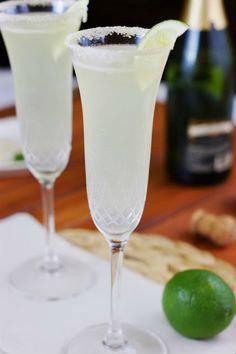 cocteles con champaña