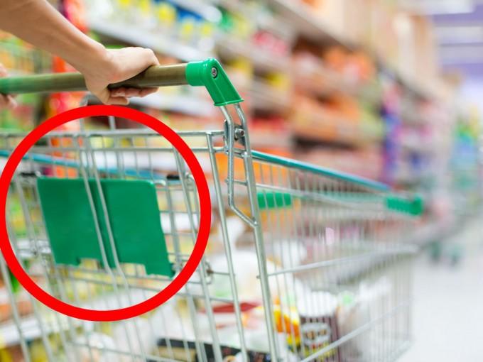 Esta es la forma correcta de usar la canastilla del carrito del supermercado