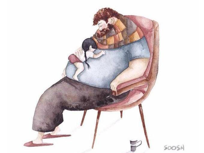 10. Ser el colchón más cómodo y seguro de tu hija (sin importar tu espalda).