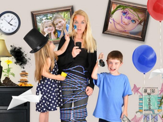 Cuando uno tiene hijos, no se puede tener la casa ordenada.