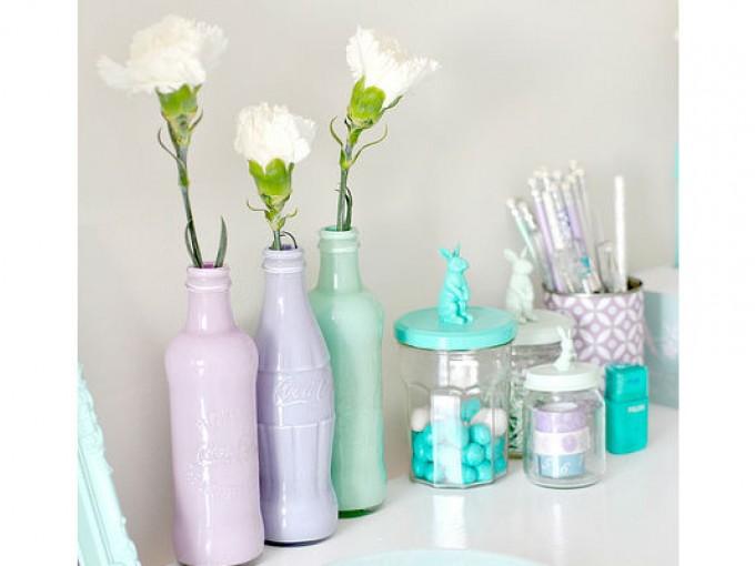 Floreros artculos floreros con latas floreros con latas for Oficina zona azul talavera