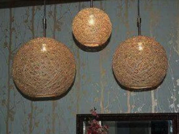 L mparas estilo nido me lo dijo lola - Como decorar tulipas de lamparas ...