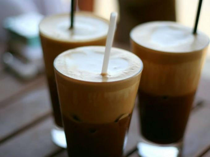 Frappe de café casero