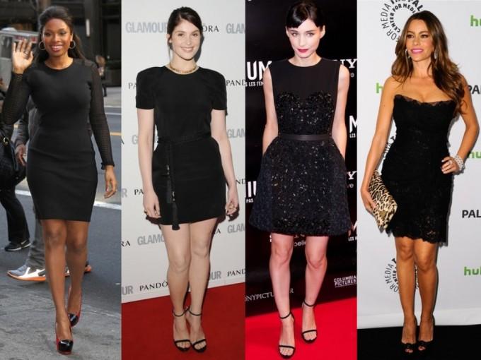 Que accesorios usar con un vestido negro corto
