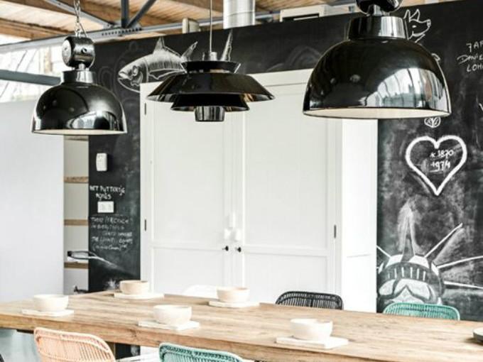 Tu cocina puede ser divertida con unas lámparas de techo