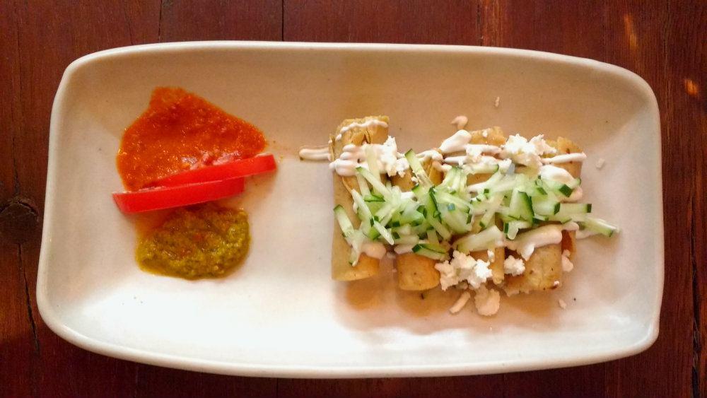 tacos dorados sin carne
