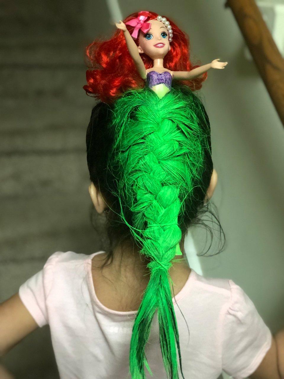 Peinado de La Sirenita