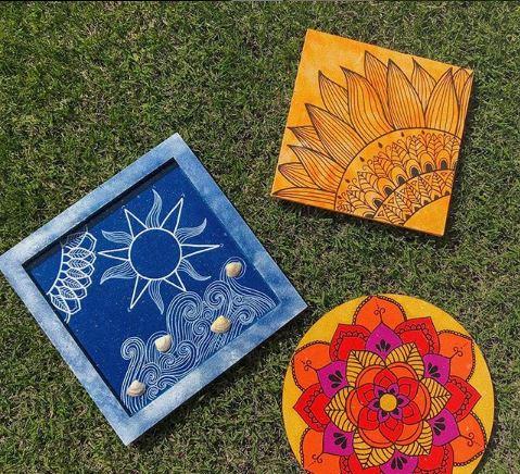 Ideas para decorar con mándalas / Foto: @altas_artes - Instagram