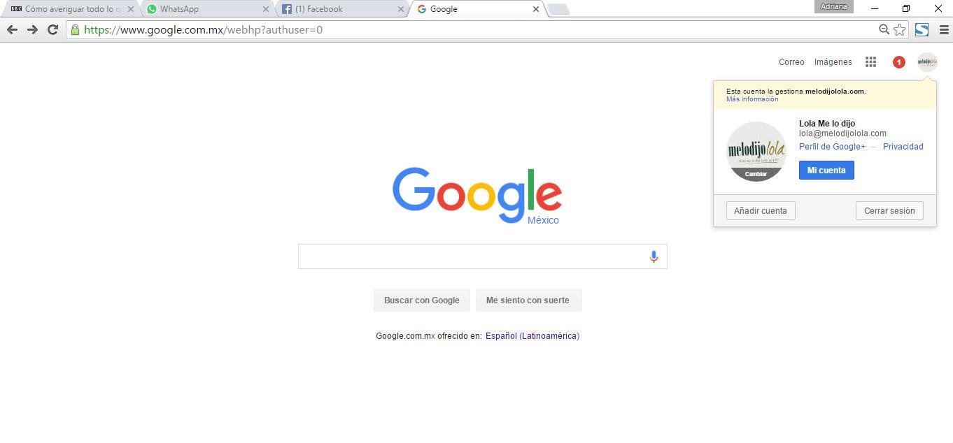 esta es toda la informacion que google tiene sobre ti