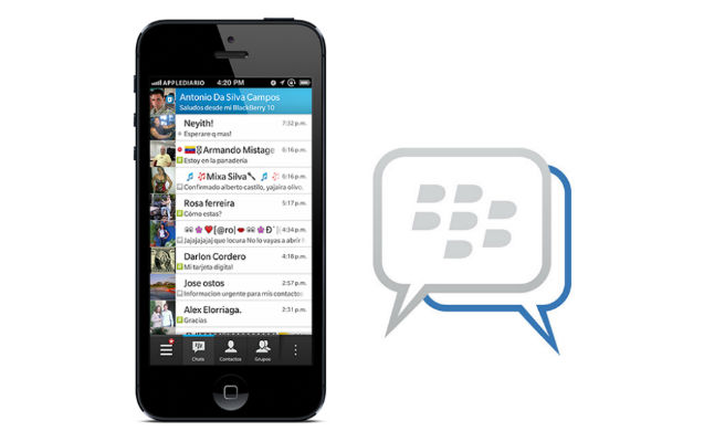 BlackBerry Messenger para iphone y android