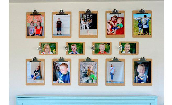 Decoraci n con clipboards me lo dijo lola - Decorar con fotos las paredes ...