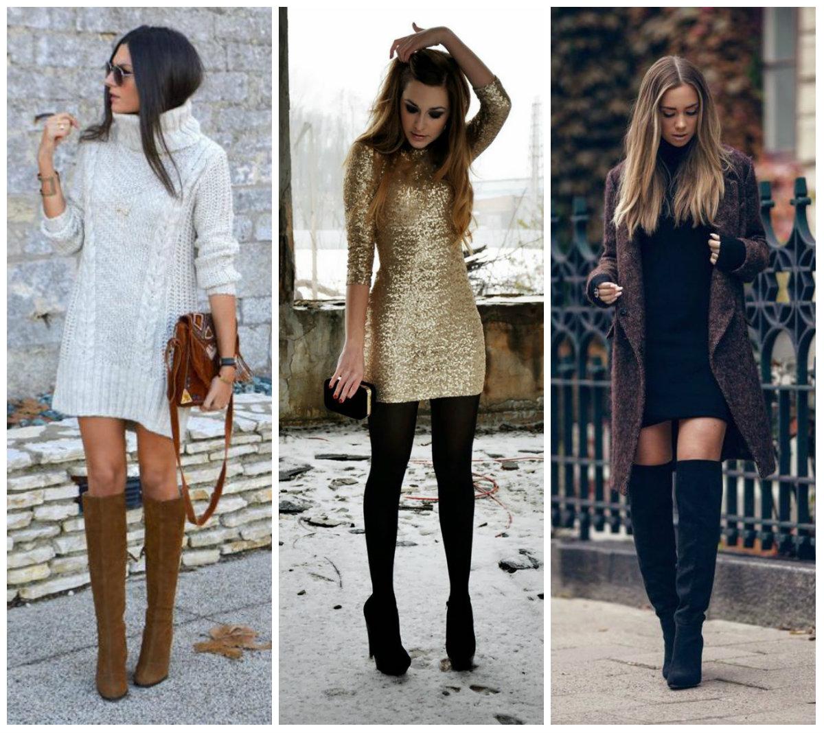 Botas para vestidos de invierno
