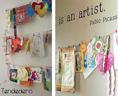 C mo decorar usando el arte de tus hijos me lo dijo lola - Redes para colgar altavoces ...