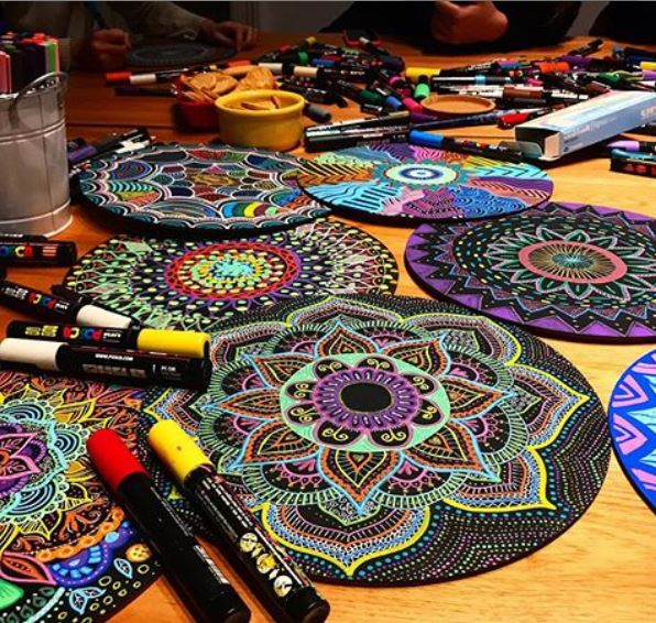 Ideas para decorar con mándalas /  Foto: @lunaportnoi - Instagram