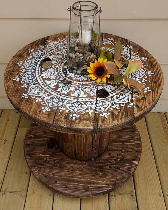 Ideas para decorar con mándalas/ Foto: @cutiingedgestencils.com - Pinterest