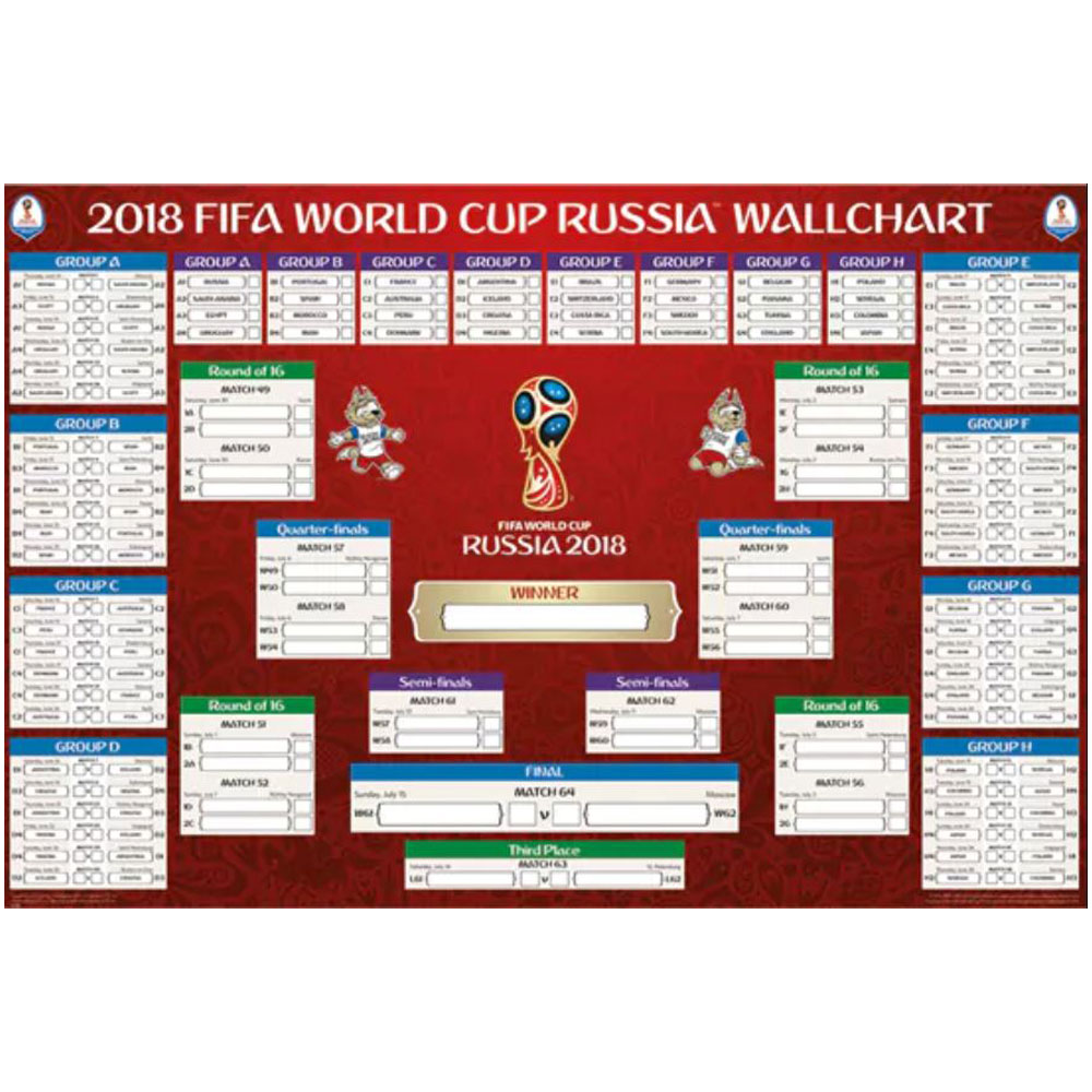 Russia 2018 Oficial Chart