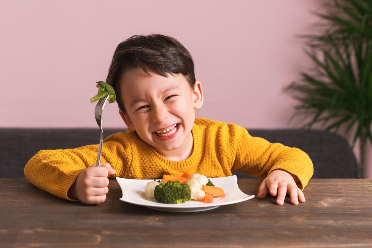 Deja que pruebe las verduras