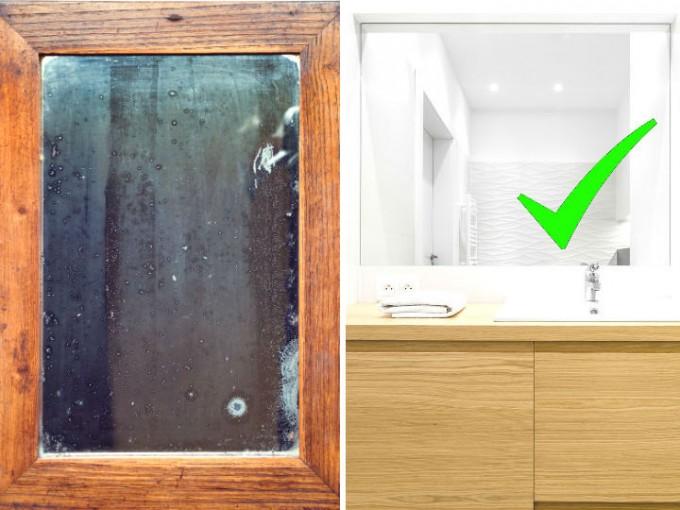 Limpia tus espejos y elimina las manchas con este truco, ¡sin rasparlos!