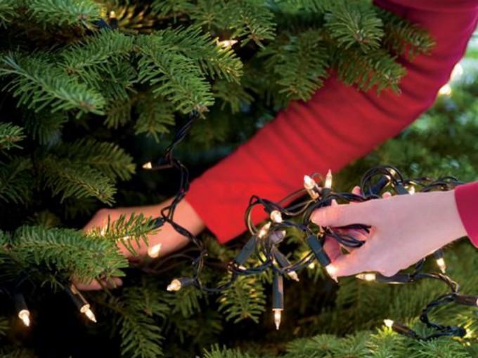 Todo este tiempo has puesto mal las luces del árbol de Navidad