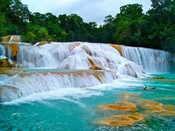 Cascadas de agual azul , Chiapas. Me lo dijo lola
