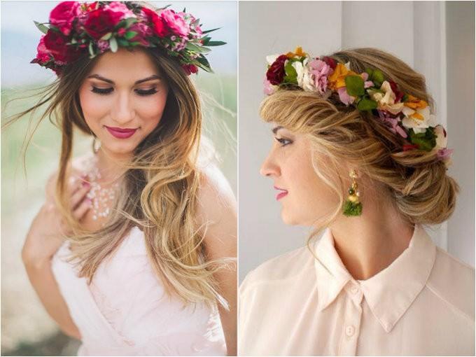 Creativo peinados con flores en el pelo Galería de tendencias de coloración del cabello - Peinados para el 15 de septiembre | Me lo dijo Lola