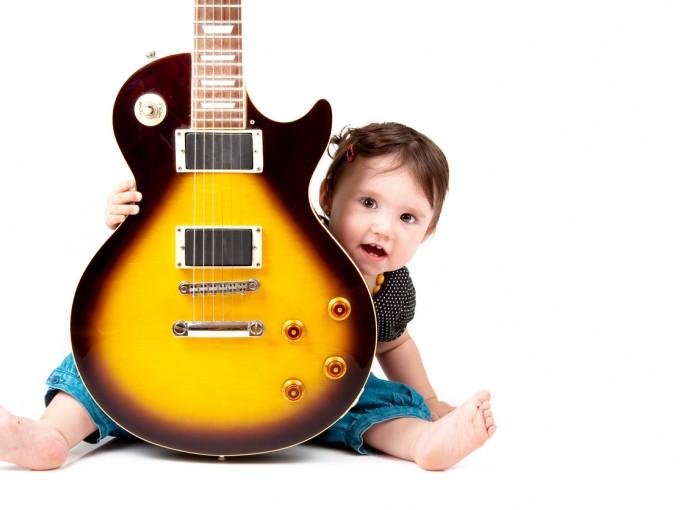 Música rock para bebés Fotos: iStock