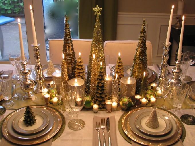 Centros de mesa para navidad con velas Me lo dijo Lola