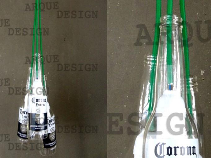 Lámpara botellas cerveza
