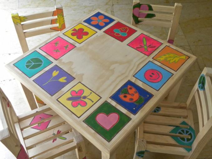 Muebles pintados a mano me lo dijo lola - Murales de pared pintados a mano ...