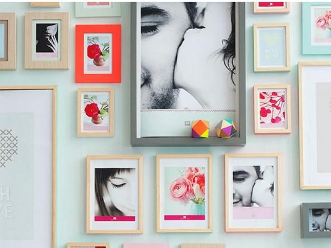 Decora una pared con fotos