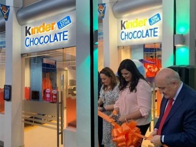 La primera minifábrica de chocolate en Kidzania es Kinder