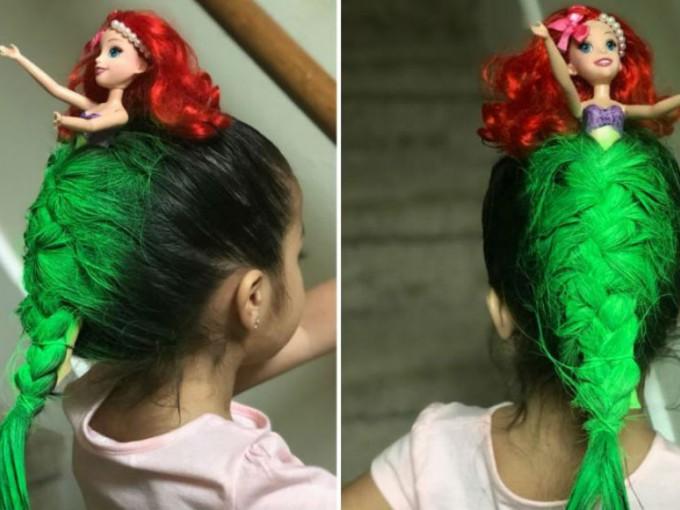 El peinado de La Sirenita que la rompió en internet Foto: Twitter