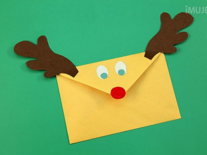Sobres en forma de reno me lo dijo lola - Manualidades de navidad para ninos paso a paso ...