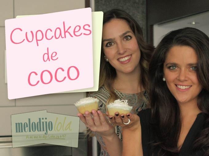 ¡Recibe la primavera con unos ricos cupcakes de coco!