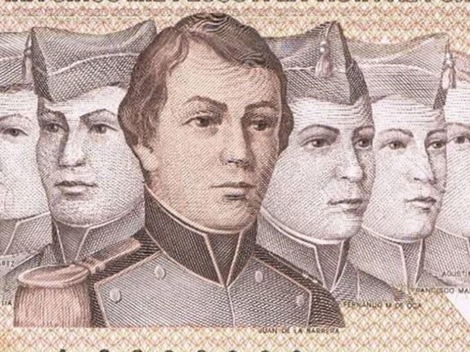 Juan Escutia, Agustín Melgar, Juan de la Barrera, Vicente Suárez, Francisco Márquez y Fernando Montes de Oca.Foto: Wikimedia Commons