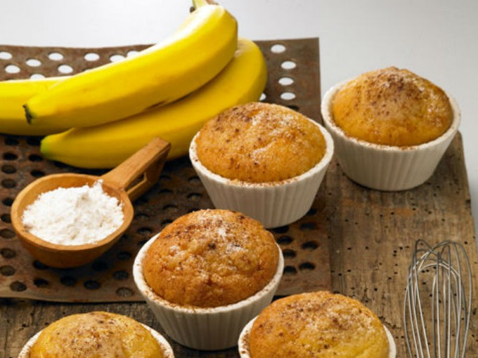 Receta panquecitos de plátano