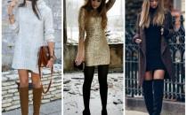 ¡Usa vestidos con este frío!