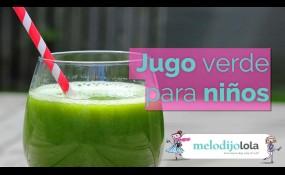 ¡Los jugos verdes también son para niños!