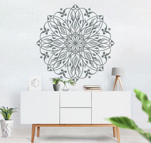 Ideas para decorar con mándalas / Foto: @viniloscasa - Instagram