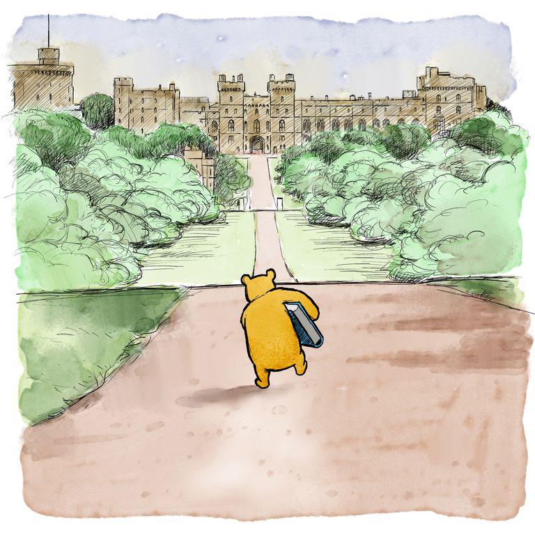 Winnie The Pooh con el Royal Baby